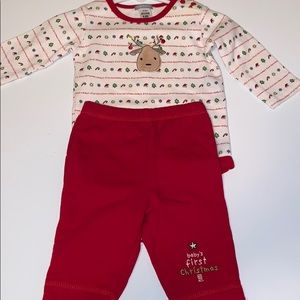 Baby Christmas onesie with pants